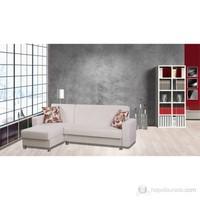 Sigma Tasarım Polo Köşe Takımı Yataklı Sandıklı Krem