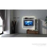 Hayal 6459 Tv Ünitesi Leon Ceviz/Parlak Beyaz