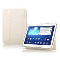 """Dark Samsung Galaxy Tab3 10.1"""" P5210 Uyumlu Akıllı Beyaz Tablet Kılıfı / Stand"""