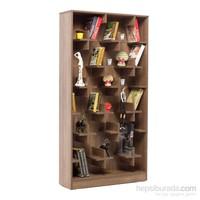 Evdebiz Plus Kitaplık Ceviz