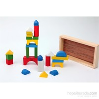 Wooden Toys Shapes Of Buildng 26 Pcs