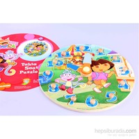 Learning Toys Kaşif Dora Wooden Clock Puzzle