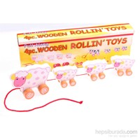 Learning Toys 4PCS Wooden Rolling Toys