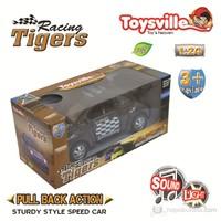 Toysville Racing Tigers Rangers 1/24 Metal Çek Bırak Siyah Sesli & Işıklı