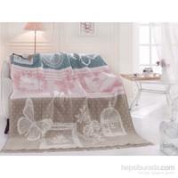 Merinos Tek Kişilik Pamuklu Battaniye Vintage
