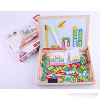 Wooden Toys City Spells Happily Dual Board Set