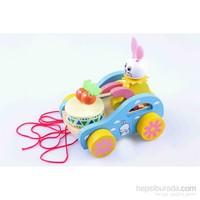 Learning Toys Ahşap Davul Çalan Tavşan