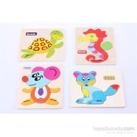 Learning Toys 4'lü Animal Puzzle Diagram Paketi