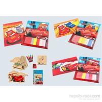 Disney 4'lü Disney Pixar Cars Mosaicubes ve 3D Ahşap Boyama Paketi