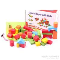 Wooden Toys Renkli Ahşap Blok Oyunu