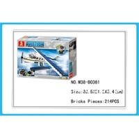Sluban Kutulu Blok Deniz Uçağı 214 Parça