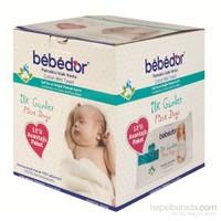Bebedor İlk Günler Islak Pamuklu Mendil 12'li Paket