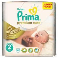 Prima Bebek Bezi Premium Care Jumbo Paket 2 Beden 90 Adet