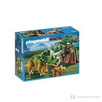 Playmobil Triceratops Dinazor ve Yavrusu ve Kaşif