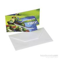 KullanAtMarket Ninja Turtles Davetiye