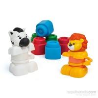 Clemmy Hayvanlar Oyun Seti (10 Blok, 2 Hayvan Figürü Parçaları)