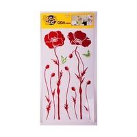 Deconation Salon Etiket Kırmızı Gelincikler