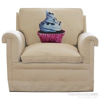 Böğürtlenli Cupcake Tasarım Yastık