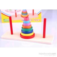 Wooden Toys Renkli Ahşap Hanoi Kuleleri
