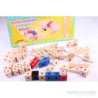 Wooden Toys Wooden Deformation Magic Block
