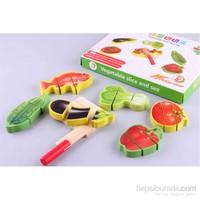 Wooden Toys Wooden Vegetable Slice Set