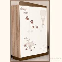 Kidboo Cute Bear Bebek Odası 3 Kapaklı Gardrop