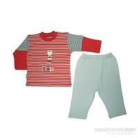 Bebepan 1018 Çizgili Bebek Pijama Takımı Çizgili 0-3 Ay (56-62 Cm)