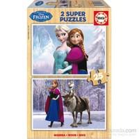 Educa Frozen - 2 X 25 Parça Ahşap Puzzle