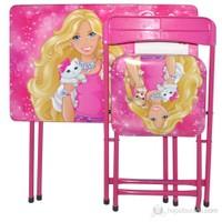Barbie Yazı Tahtalı Masa Sandalye Seti