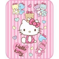 Aksu Bebek Lisanslı Battaniye Hello Kitty Bear