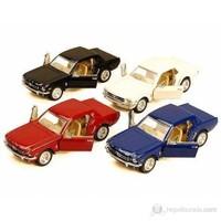 1:36 Kınsmart 1964 1/2 Model Ford Mustang Klasik Otomobil (Siyah)