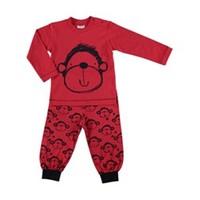 Mother Love Kırmızı Maymun Süp.Pijama Takım Alt Empirme - Kırmızı