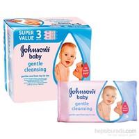 Johnsons Baby Islak Mendil 56'lı Losyonlu / 3'lü Paket (168 Yaprak)