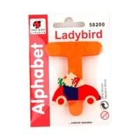 Ladybird Bebek Odası Ahşap Dekoratif Harfleri T
