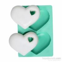 Kurdelya Kalpli Delikli Kalp Silikon Kalıp
