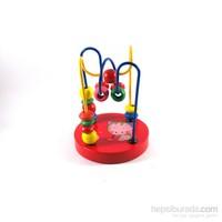 Ahşap Mini Koordinasyon Oyuınu - Kırmızı Renkli