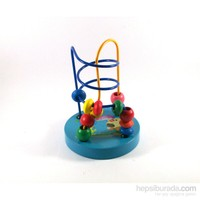 Ahşap Mini Koordinasyon Oyuınu - Mavi Renkli