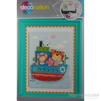 Stic&Stic Gemideki Dostlar Çerçeve Sticker