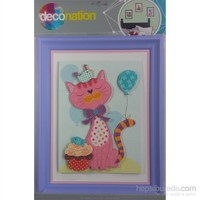 Stic&Stic Postacı Kedi Çerçeve Sticker