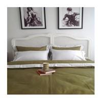 Mella Home Milan Pamuk Saten Nevresim Takımı-Yeşil-Beyaz