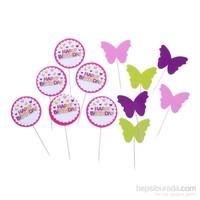 KullanAtMarket Dekoratif Kürdan Kız Doğum Günü 12'Li