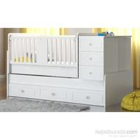 Babi Baby Asya 80X180'e Büyüyebilen Bazalı Beşik Kod:2804