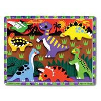 Melissa&Doug Ahşap Tombul Yapboz -Dinozorlar
