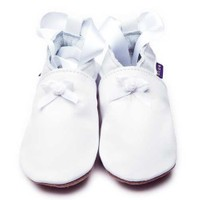 İnch Blue Hakiki Deriden Patik Rose Ballet White