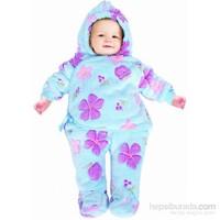 Sevi Bebe Çiçekli Polar Ayaklı Kundak Battaniye