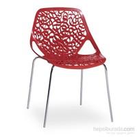 Sefes Lola 4 Adet Sandalye Kırmızı