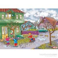 Eksen Sonbahar Mevsimi Ahşap Puzzle / 35 Parça