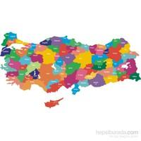 Eksen Türkiye Haritası Ahşap Puzzle / 35 Parça
