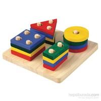 Plantoys Geometrik Sıralama Tahtası (Geometric Sorting Board)