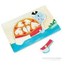Pal Sevimli Kaplumbağa - Ahşap Puzzle Yerini Bul